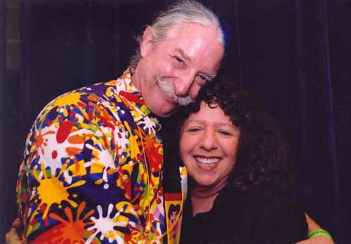 Dr. Patch Adams and former Asheville mayor Leni Sitnick